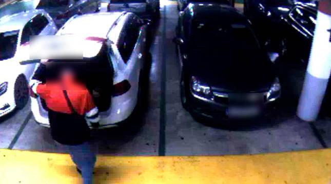 Imagen del robo en una cámara de seguridad.