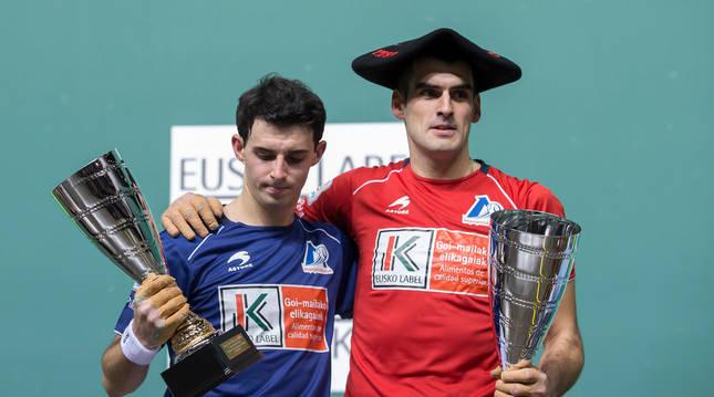 Jokin Altuna y Joseba Ezkurdia, último campeón.