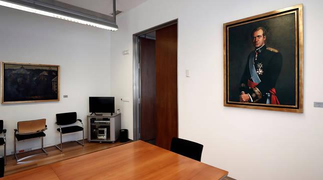 Retrato de Juan Carlos de Borbón de la