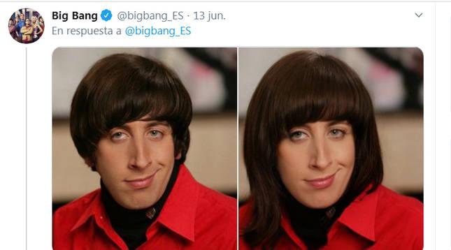 Así cambia el personaje de Howard Wolowitz, de The Big Bang Theory, con esta aplicación.