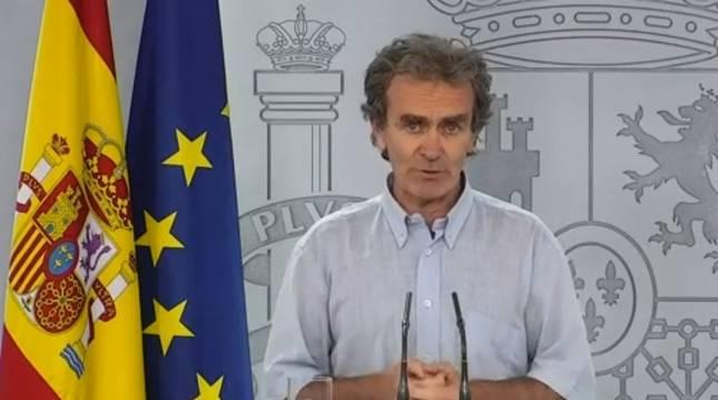 Fernando Simón en la rueda de prensa ofrecida este martes.