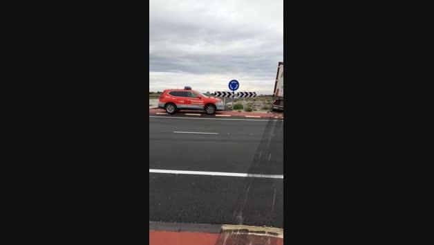 Vídeo del accidente de un camión en Cintruénigo
