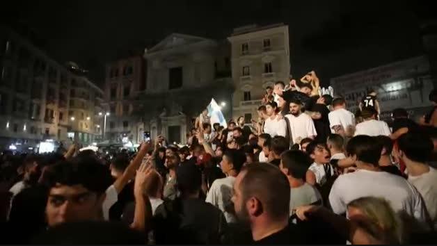 Descontrol en Nápoles durante una celebración deportiva