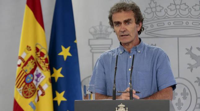Fernando Simón en la rueda de prensa ofrecida este pasado miércoles.