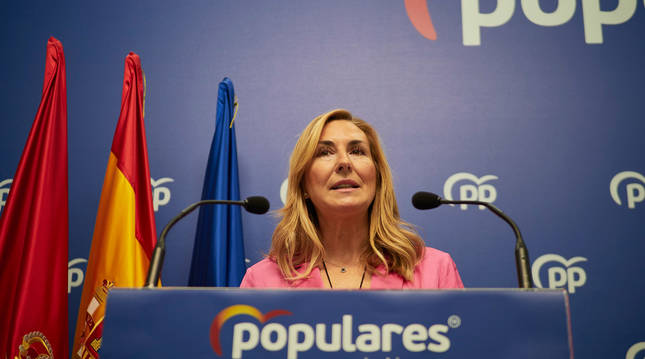 Foto de Ana Beltrán, presidenta del Partido Popular de Navarra.