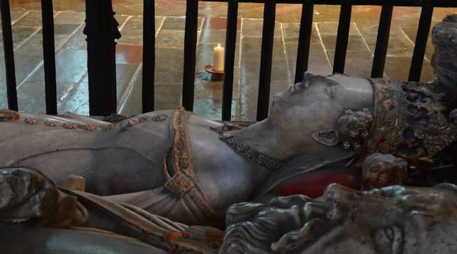 La tumba de Juana y Enrique IV en Canterbury.