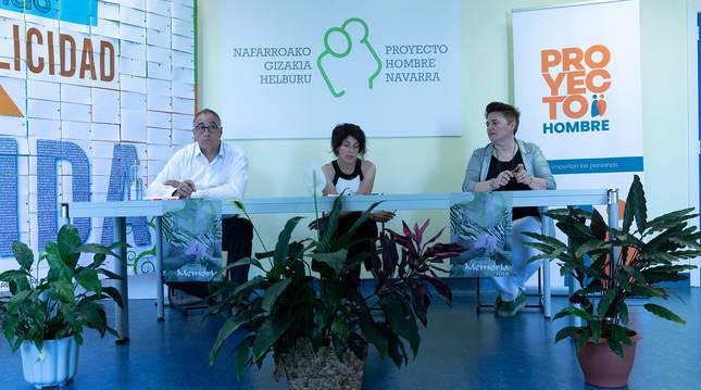 Rueda de prensa de Proyecto Hombre Navarra.