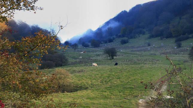 Imagen del Valle de Ata, donde se extraviados las dos jóvenes.