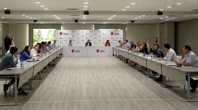 Imagen de la primera reunión de la renovada ejecutiva de UPN.