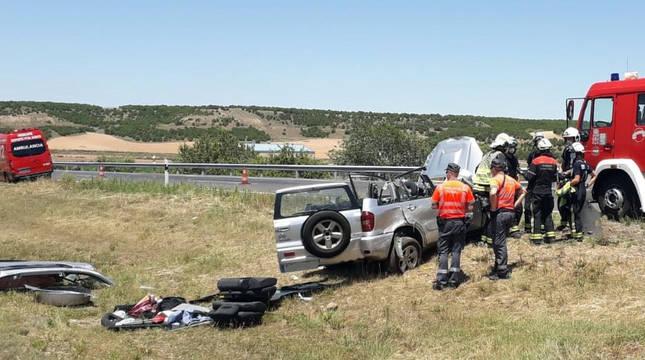 Accidente registrado en Ablitas.