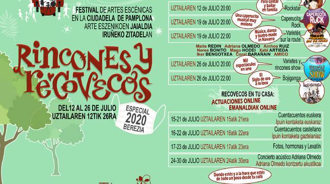 Cartel del programa del festival Rincones y Recovecos