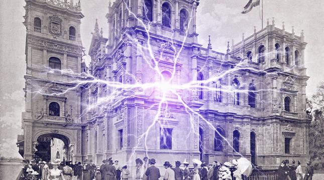 Fotografía del pabellón de España del libro 'Le Panorama. Exposition universelle 1900'.