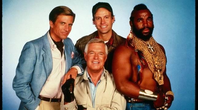 Imagen de los protagonistas de 'El equipo A'