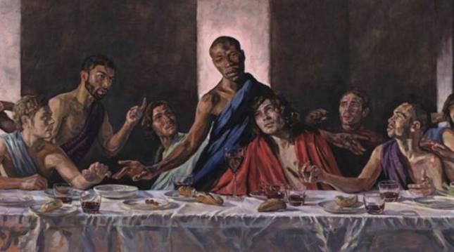La pintura de Lorna May Wadsworth 'A Last Supper'