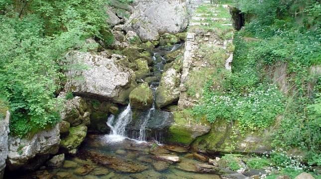 Una imagen del  área de los  nacederos de los ríos Ertzilla y Larraun, en las cercaías de Iribas.