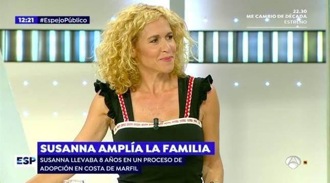 La periodista Cristina Fernández, durante una emisión de 'Espejo Público