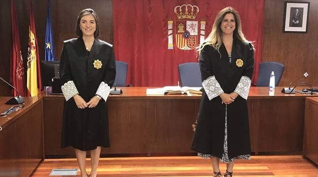 Foto de Paola García Sánchez y Andrea Torroba Ezcurra.