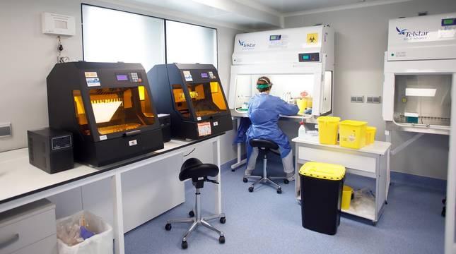 foto de Laboratorio de Microbiología del CHN