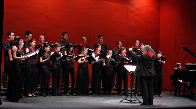 La Coral de Cámara de Pamplona, en el concierto de los Sanfermines de 2011.