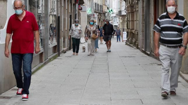 Vista de la localidad de Viveiro (Lugo), este domingo.