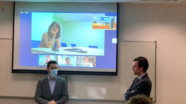 Diego Salas defiende su tesis en la Universidad de Navarra.