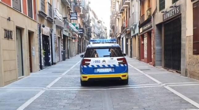 Foto del vehículo de la Policía Municipal de Pamplona.