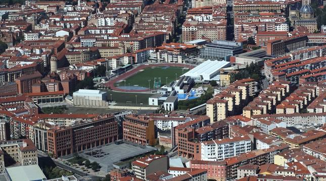 Foto de archivo de Pamplona, en la zona del estadio deportivo Larrabide.