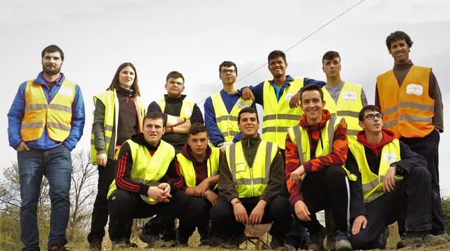 Los alumnos encargados de los huertos sociales de Peralta.