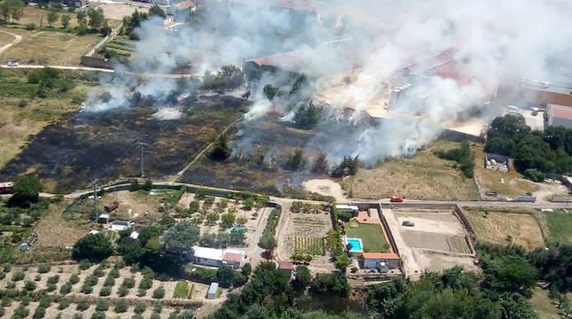 Incendio en Cintruénigo.