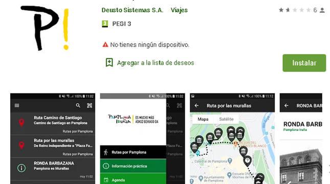 La nueva app 'Pamplona Iruña'.