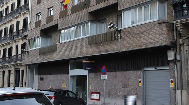 Foto de la Jefatura Superior de Policía en Pamplona.