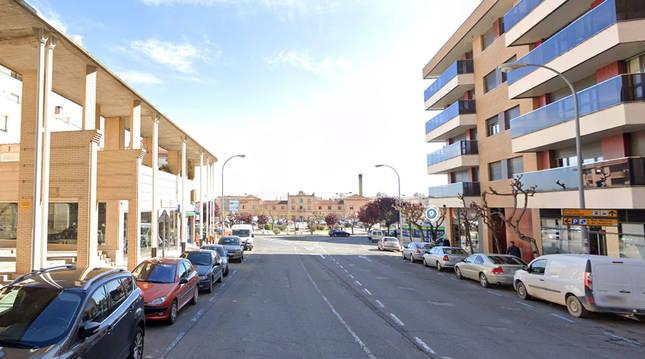 Foto de la calle Cuesta de la Estación de Tudela.
