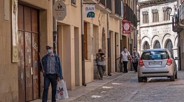 Foto de la calle La Rúa de Estella, en el barrio monumental de la ciudad.