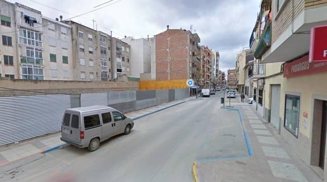 Calle Simancas de Caravaca de la Cruz.