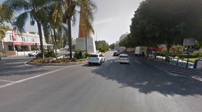 Vista de la calle José Meliá en Marbella.