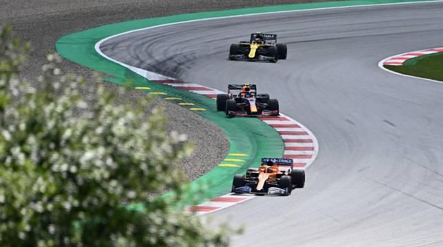 Carlos Sainz, piloto español de McLaren, acabó noveno en el Gran Premio de Estiria.