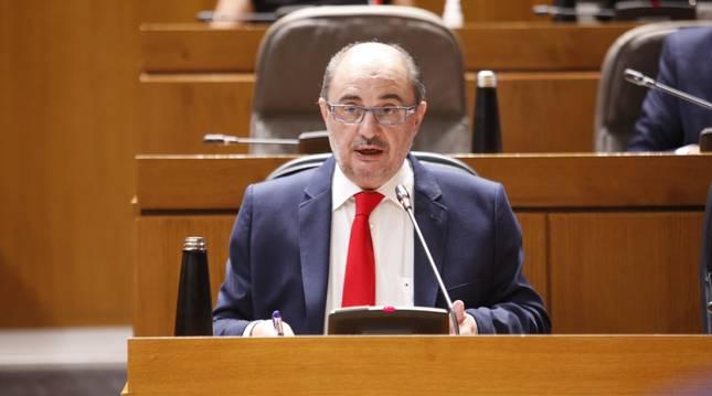 Foto del presidente de la Comunidad Autónoma de Aragón, Javier Lambán.