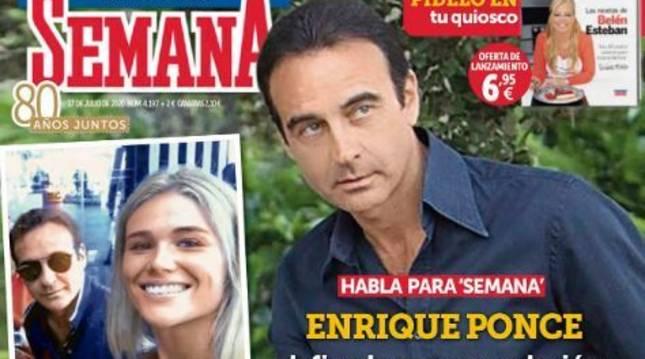 Enrique Ponce, en la portada de la revista 'Semana'
