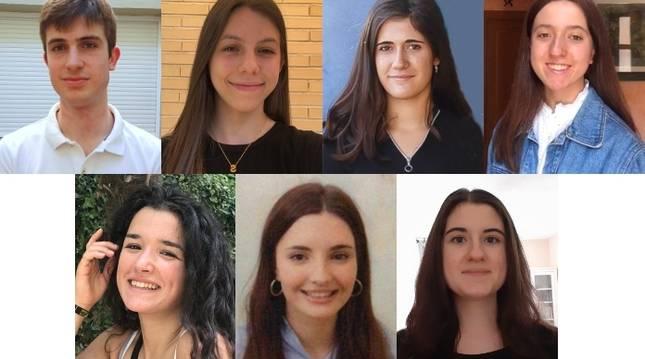 Algunos de los alumnos de la Ribera con mejores calificaciones de la EvAU