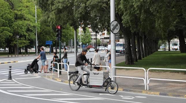 Foto de la zona por la que transcurrirá el carril bici en Antoniutti.