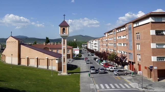 Foto del barrio pamplonés de Mendillorri.