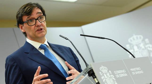 Foto del ministro de Sanidad, Salvador Illa.
