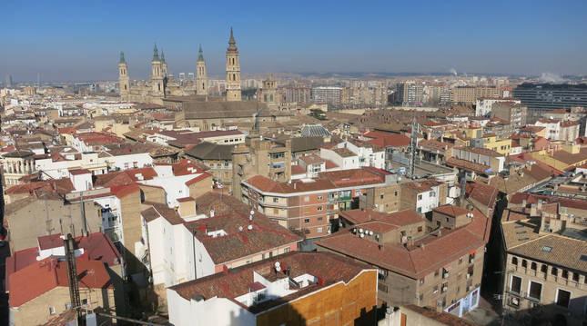Vista aérea de Zaragoza.