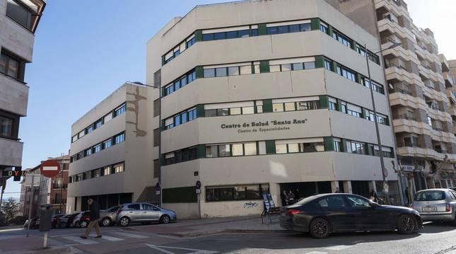 Exterior del centro de salud Santa Ana de Tudela.