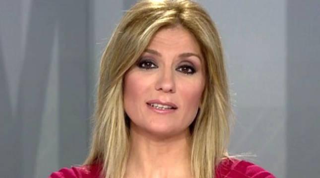 Sandra Golpe, durante un informativo de Antena 3