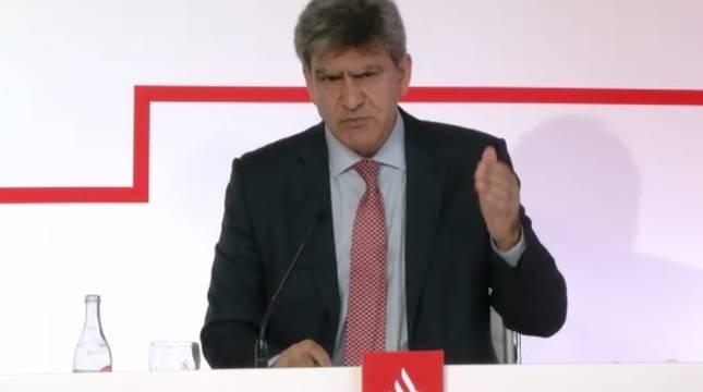 El consejero delegado de Banco Santander, José Antonio Álvarez.