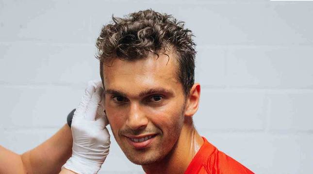 Lucas Torró, el pasado lunes, durante las pruebas médicas.