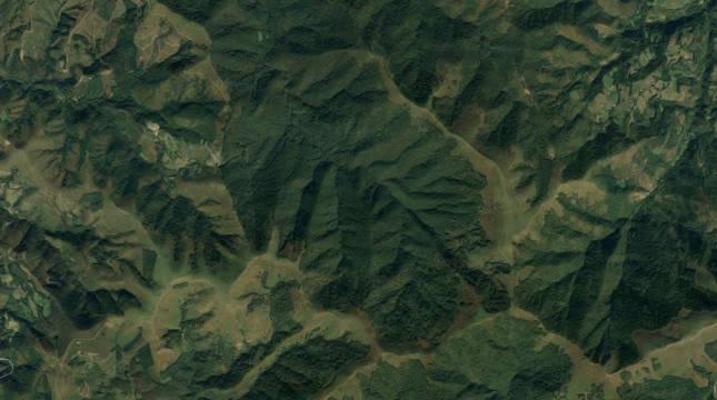 Vista aérea del norte de Navarra.