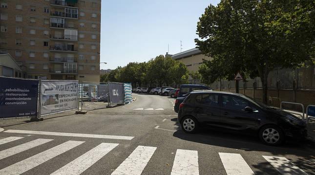 Imagen de la calle Doctor Juaristi de San Jorge, donde se implantará el corredor ciclista.