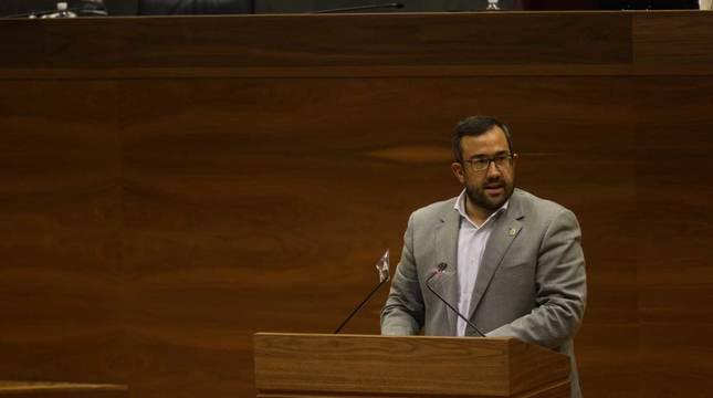 Javier Remírez, este jueves en el Parlamento foral.